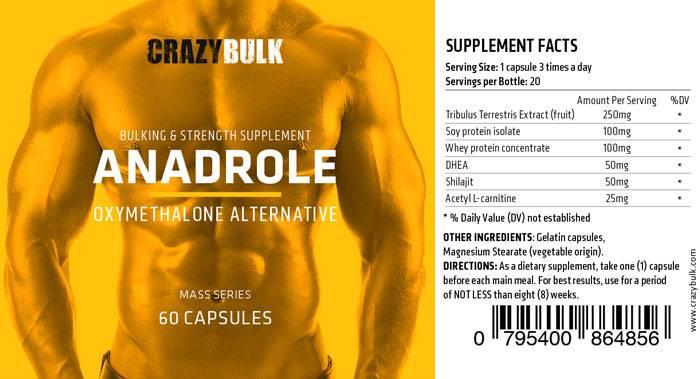 Crazy Bulk Anadrol Ingredients