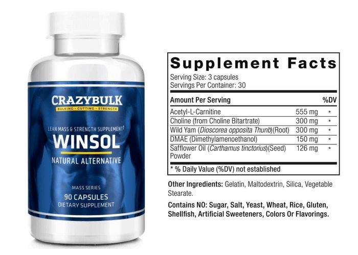 Crazy Bulk Winsol Ingredients